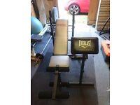 York weight bench and preacher bench