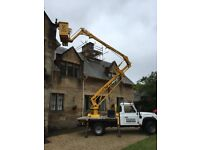 PAINTER PAINTING EXTERIOR WEST END GLASGOW CHERRY PICKER HIRE