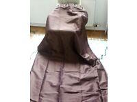 Curtains - brown satin sheen 229 x 229cm Paoletti