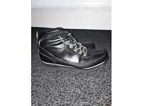MENS SIZE 10 black leather boots sergiotachini worn one like new