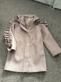 River island wool coat age 11 never worn