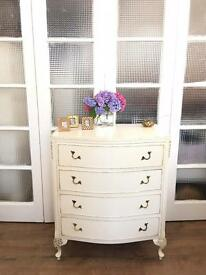 FRENCH VINTAGE CHEST FREE DELIVERY LDN🇬🇧SHABBY CHIC