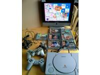 PS1 Consol..7 Games ..Controllers