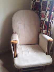 Nursery Rocking Chair with Rocking footstool (john Lewis) smile&pet free, v good condition