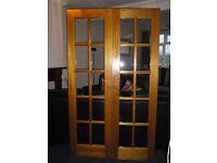 Hardwood glazed double doors - FREE