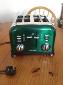Morphy Richards emerald green toaster - great condition