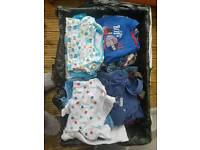 Crate Of Baby Boy Clothes 6-9 Months