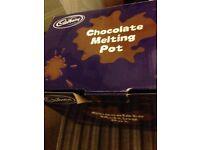 Cadbury chocolate melting pot.