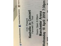 4x Nashville Concert Tickets - Manchester - Wed 18th April