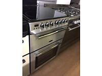 SILVER 60CM ELECTRIC COOKER ( Double Oven)