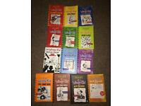 Diary of a wimpy kid full book collection 13 books /£40 or best offer