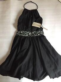 new kookai halterneck black dress