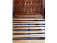 King Size Solid Oak wood Sleigh Bed - for sale