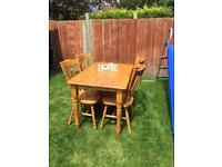 Solid Pine Dining Table And 4 Chairs... ** DELIVERY AVAILABLE **