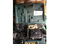 HITACHI DH24DVC CORDLESS 24V SDS+ HAMMER DRILL, BATTERY, CHARGER AND CASE