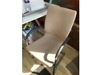 5 AVAILABLE - Office Chair - Beige Chair - Chrome Legs - Office Furniture