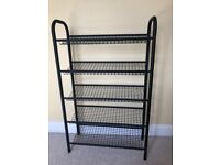 Shoe rack gym weights storage