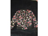 Girls Flower Quilted Bomber jacket by Bluezoo Age 8-9
