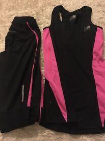 Karrimor Ladies running vest and leggings size 6