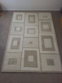 Benjamin Design Handmade Rug 100% Wool Pile Size 160 x 235 cm Colour Natural / Beige / White