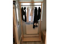 standing rail for clothes