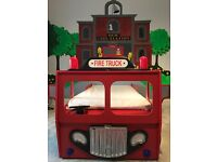 Kids Fire Engine Single Bed