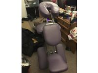 Massage chair with storage / carry bag