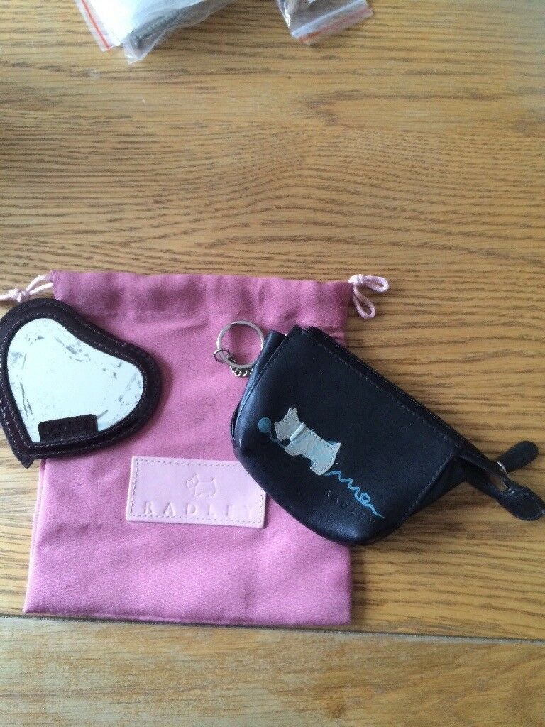 Radley coin purse, mirror and gift bag