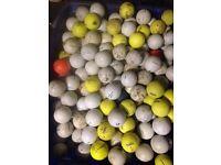 Assortment of golf balls 10p each