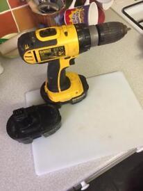 Dewalt drill and 2 batteries