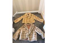 2 x Faux Fur Coats