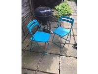 Pair of garden chairs, great for the garden and BBQ's!
