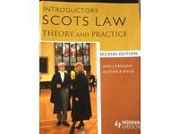 Scots Law - Theory and Practice (2nd Edition) Crossan & Wylie Textbook