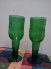 2 handmade Beer goblets