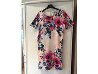 Size 8 floral shift dress, perfect for summer, wedding