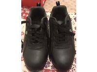 Black Steel toecap trainers