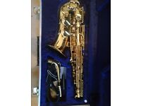 BOOSEY AND HAWKES 400 ALTO SAXOPHONE AND HARDCASE.