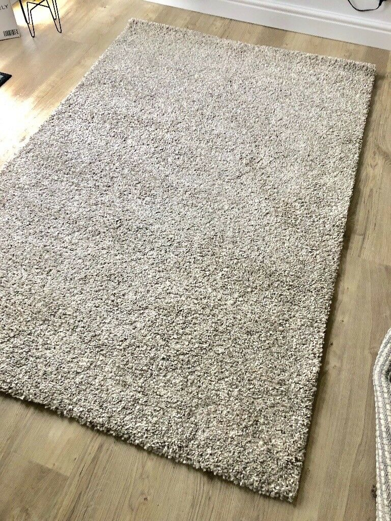 Ikea alhede rug off white grey in boston spa west for Grey rug ikea