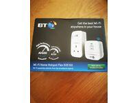 BT powerline 600 broadband booster internet extender twin adaptor