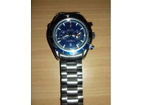 Omega Planet Ocean Blue Face Seamaster Watch