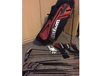 Wilson X31 titanium golf clubs and bag