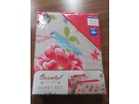 Oriental Floral Print Duvet set new King Size premium cotton