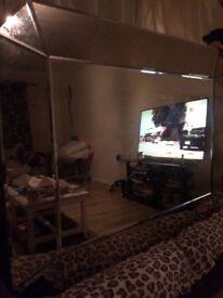Laura Ashley !! Large glass very heavy mirror !!