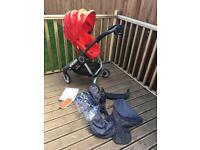 STOKKE SCOOT in red with accessories