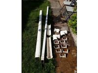 White guttering and fittings for sale