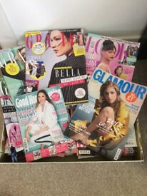 FREE...lots of women's magazines ..Grazia, Look etc..all like new