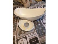 Mothercare bath and top and tail bowl and thermometer