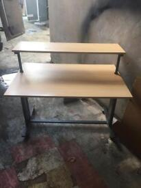 Solid workstation or computer table
