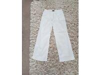 Next white linen trousers