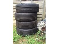 4 x continental tyres 215/60/17 in good condition